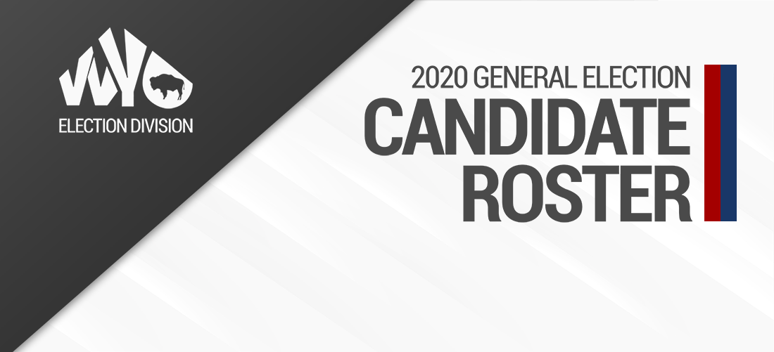 2020 General Candidates Roster