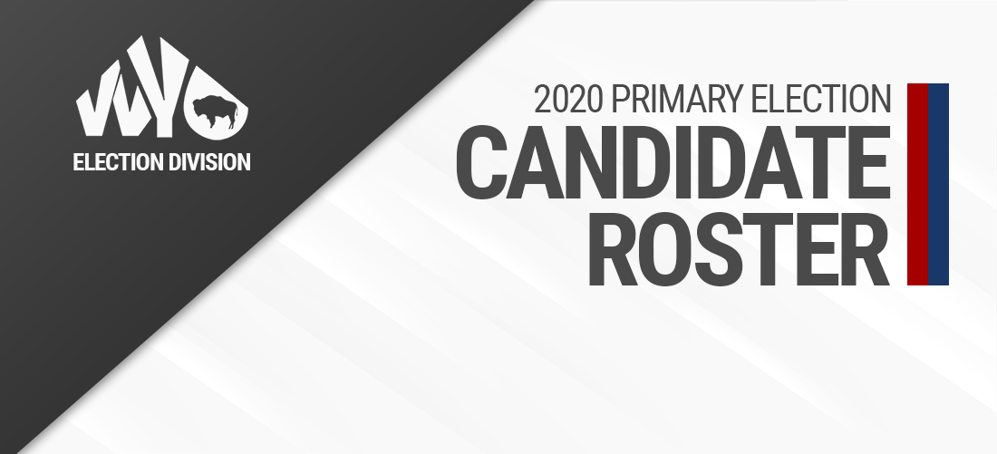 2020 Primary Candidates Roster