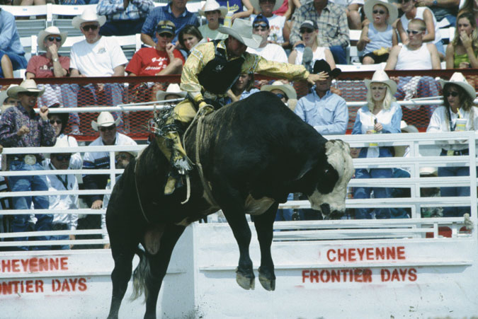 Cheyenne Frontier Days Rodeo courtesy of Wyoming Travel & Tourism