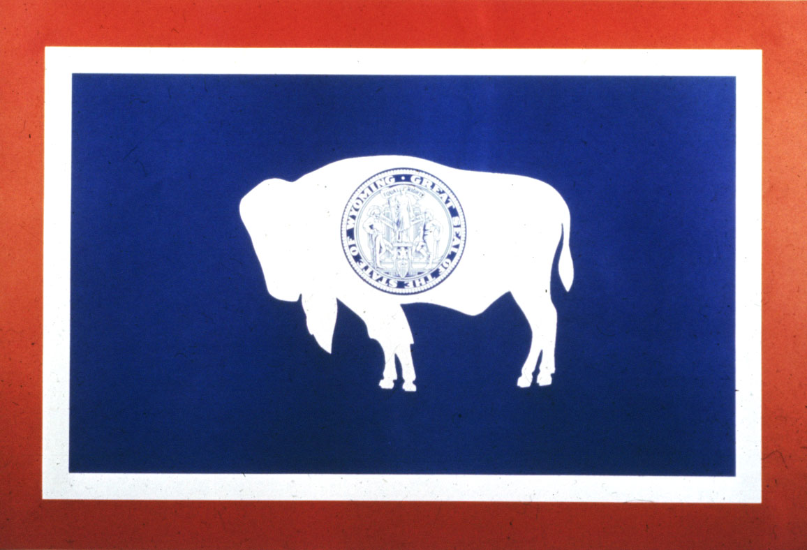 Wyoming state flag courtesy of Wyoming Travel & Tourism