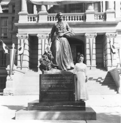 Esther Hobart Morris, The Statue and Her Creator